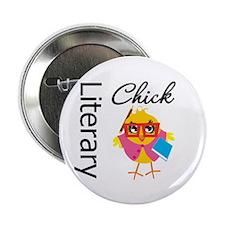 "Literary Chick 2.25"" Button"