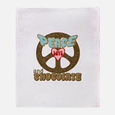 PEACE LOVE AND CHOCOLATE Throw Blanket