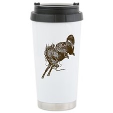 Bucking Bronco Western Travel Coffee Mug