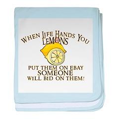 When Life Hands You Lemons baby blanket
