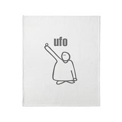 UFO Unidentified Flying Objec Throw Blanket