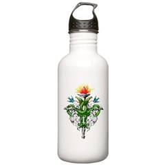 Serpent Cross Tattoo Water Bottle