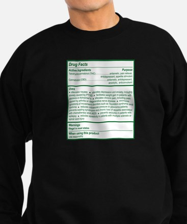 THC Drug Facts Sweatshirt (dark)