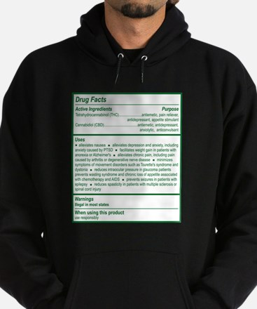 THC Drug Facts Hoodie (dark)