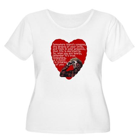 Stalker Anti-Valentine Women's Plus Size Scoop Nec