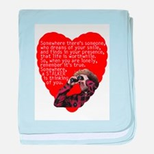 Stalker Anti-Valentine baby blanket