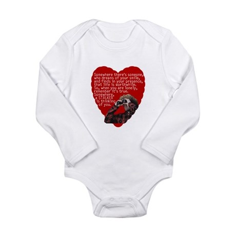 Stalker Anti-Valentine Long Sleeve Infant Bodysuit