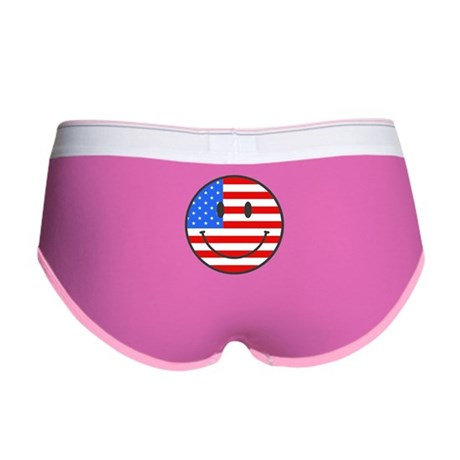 Smiley Face Fourth Of July Women's Boy Brief