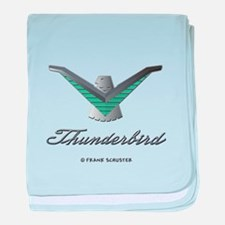 T Bird Emblem with Script baby blanket