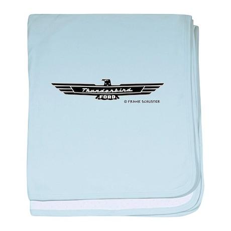 Thunderbird Emblem Black baby blanket