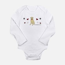 lab - yellow Long Sleeve Infant Bodysuit