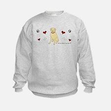 lab - yellow Sweatshirt