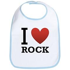 I Love Rock Bib