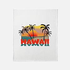 Hawaiian / Hawaii Souvenir Throw Blanket