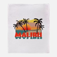 Malibu California Souvenir Throw Blanket