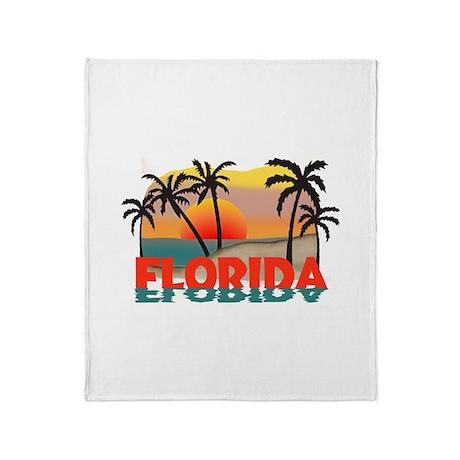 Florida Sunrise Souvenir Throw Blanket