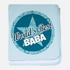 Worlds Best Baba baby blanket