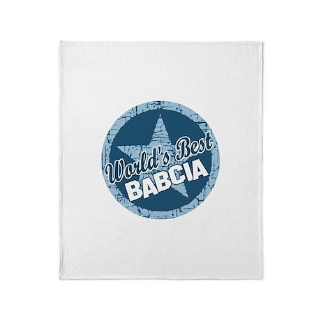 Worlds Best Babcia Throw Blanket