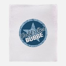 Worlds Best Bubbe Throw Blanket