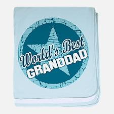 Worlds Best Granddad baby blanket