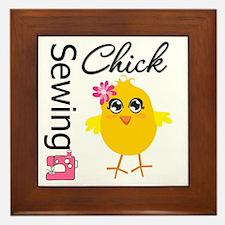 Sewing Chick Framed Tile