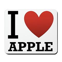 I Love Apple Mousepad