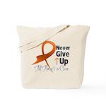 Never Give Up - Leukemia Tote Bag