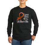 Never Give Up - Leukemia Long Sleeve Dark T-Shirt