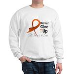 Never Give Up - Leukemia Sweatshirt