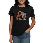 Never Give Up - Leukemia Women's Dark T-Shirt
