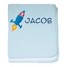 Jacob Rocket Ship baby blanket