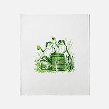 Drunk Frogs St Patricks Day Throw Blanket