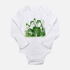 Drunk Frogs St Patricks Day Long Sleeve Infant Bod