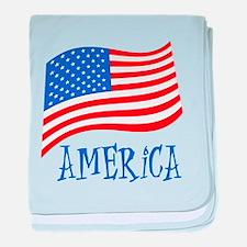 America American Flag baby blanket