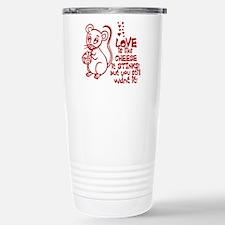 Love Stinks Like Cheese Travel Mug