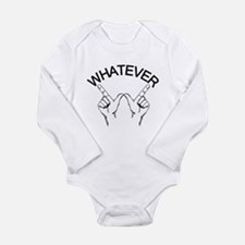Whatever ... Hand gesture Long Sleeve Infant Bodys