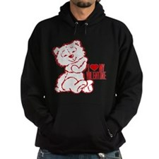 I Heart My Valentine! Red Ted Hoodie