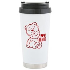 I Heart My Valentine! Red Ted Travel Mug