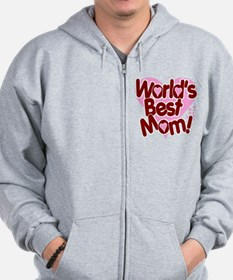 World's BEST Mom! Zip Hoodie