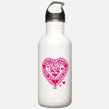 Mom Heart Mothers Day Water Bottle