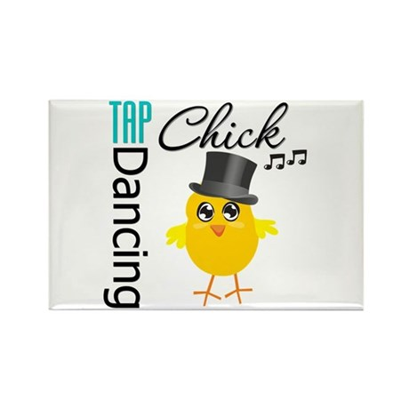 Tap Dancing Chick Rectangle Magnet (10 pack)