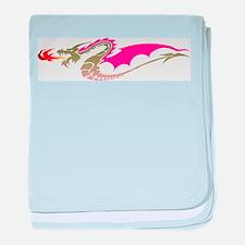 Pink Dragon baby blanket