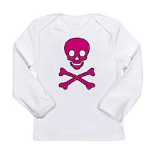 Pink Skull Long Sleeve Infant T-Shirt