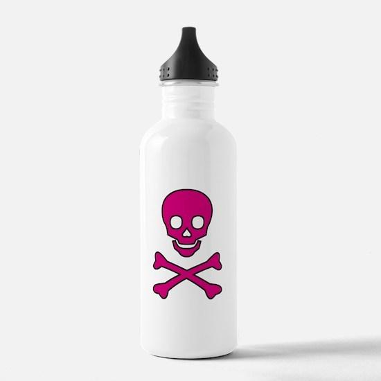 Pink Skull Water Bottle