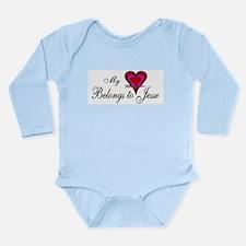My Heart Belongs to Jesse Long Sleeve Infant Bodys