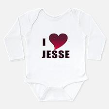 I HEART JESSE Long Sleeve Infant Bodysuit