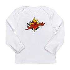 Johnny Heart Flame Tattoo Long Sleeve Infant T-Shi