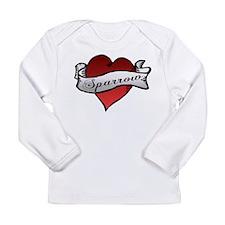 Sparrow Tattoo Heart Long Sleeve Infant T-Shirt