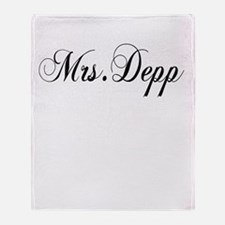 Mrs. Depp Throw Blanket