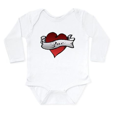 Zac Heart Tattoo Long Sleeve Infant Bodysuit